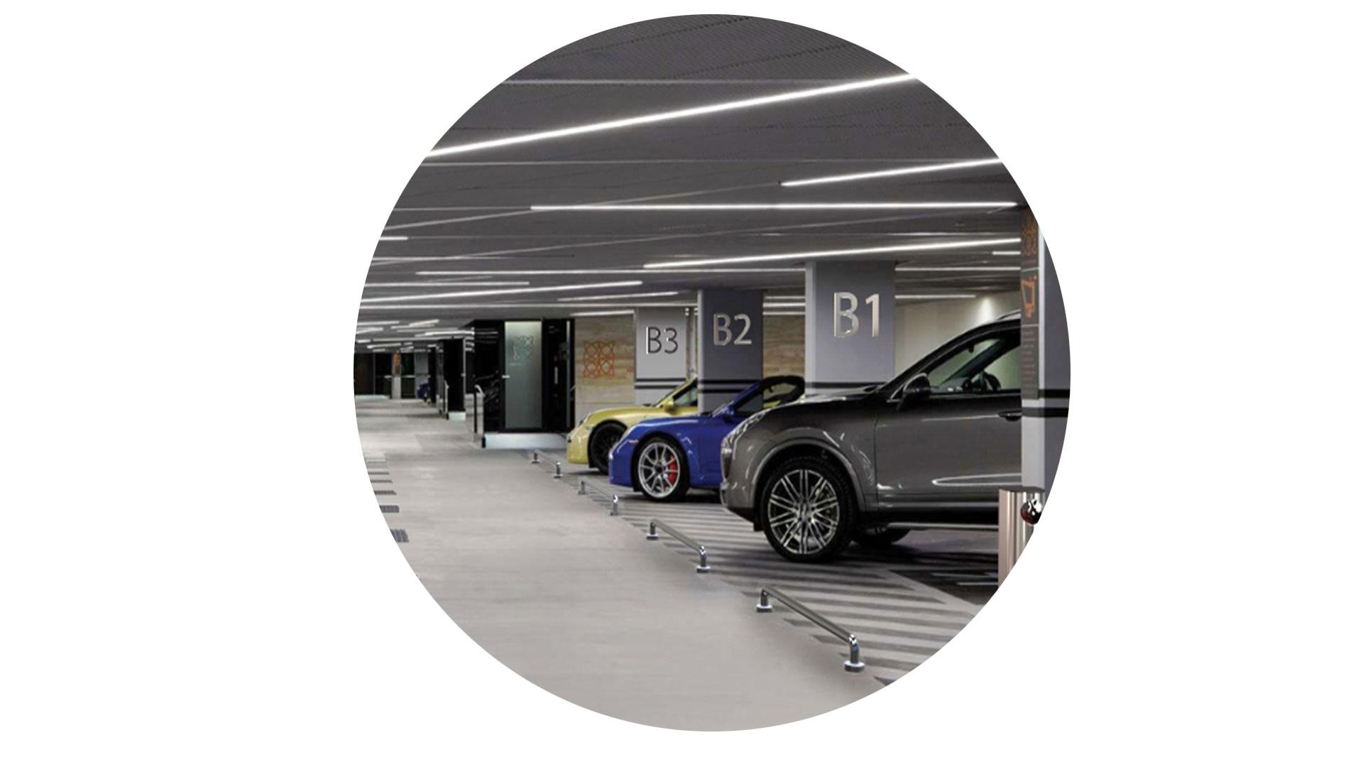 Estacionamiento Ambiente Bola Möven Design